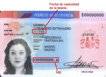 Номер иностранца NIE, Испания, ВНЖ в Испании